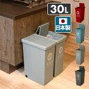 ゴミ箱 30リットル ふた付き おしゃれ スリム スライドペール 30L フタ付き ごみ箱 ダストボックス 分別 ペール 平和工業 【送料無料】