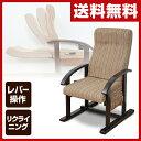 【あす楽】 山善(YAMAZEN) 高座椅子 レバー式リクライニング WLZ-55(VS1)* ストライプ(ブラウン) 高座いす 座いす 座イス パーソナルチェア 1人掛けソファ 母の日 父の日 敬老の日 高齢者 【送料無料】