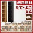 山善(YAMAZEN) カラーボックス A4 5段 幅40 高さ180 CAB-1840 たてよこA4 収納ボックス 収納ラック 組み合わせ 積み重ね 壁面収納 テレビ台 ローボード A4ブラザーズ 【送料無料】