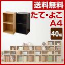 【楽天カードでP10】 山善(YAMAZEN) カラーボックス A4 2段 幅40 高さ74 CAB-7540 たてよこA4 収納ボックス 収納ラック 組み合わせ 積み重ね 壁面収納 テレビ台 ローボード 【送料無料】