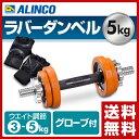 【あす楽】 アルインコ(ALINCO) ラバーダンベルセット (5kg) 両手グローブ付 EXG90...