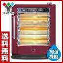 【あす楽】 山善(YAMAZEN) 遠赤外線電気ストーブ (加湿機能付) (990/660/330W 3段階切替式) DSE-KC105(R) ボルドーメタリック 遠赤外線ヒーター スチーム 電気ヒー