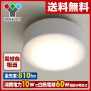 【あす楽】 山善(YAMAZEN) LEDミニシーリングライト(電球色相当) 白熱電球60W相当 810ルーメン MLC-10L 天井照明 LEDライト 照明器具 【送料無料】