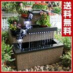 ゼンスイ 五段滝池 ウォーターインテリア 庭園 ガーデン 5段 池作り 【送料無料】