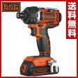 【あす楽】 ブラックアンドデッカー(BLACK&DECKER) 18V インパクトドライバー EXI18 電動インパクトドライバー 電動ドライバー 電動ドリル 充電式ドライバー 充電ドライバー 【送料無料】