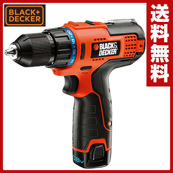 ブラックアンドデッカー(BLACK&DECKER)108VコードレスドリルドライバーLXD10-2電