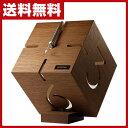 【期間限定5%OFF】 文字盤を立体的に彫った、アート的感覚の置き時計 日本製 木製 送料無料
