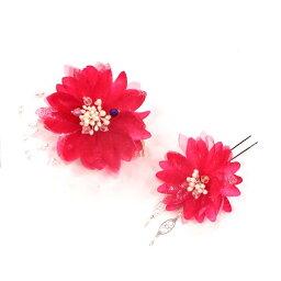ふんわりキラキラ★マゼンダピンクのお花