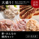 新・みんなの焼肉セット【送料無料】みんなが大好きなお肉を集めました♪(焼肉 肉 焼き肉 カルビ ハラミ ホルモン モツ もつ鍋)