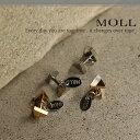 MULL ムル : ツートンWトライアングルBB / ボディピアス 14G 16G メンズ ユニセックス ベーシック ボディーピアス ピアス(メール便OK) 3...