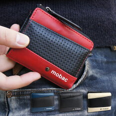 メッシュエンボスがアクセントのツートンカラーパスケース付小銭入れ【mobac】
