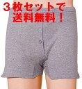 【3枚セット】【薄くて目立たない軽失禁パンツ】吸水ニット トランクス 男性用【尿漏