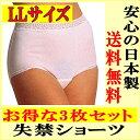 【肌にやさしくフィットする薄くて目立たない軽失禁パンツ】吸水ショーツLL女性用 日本製 3枚セットで送料無料!