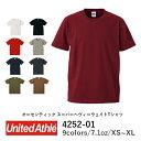 【UA】United Athle(ユナイテッドアスレ) | 7.1オンス オーセンティック スーパー ヘヴィー Tシャツ | ヘヴィーウェイト(オープンエンドヤーン) | ホワイト ピンク レッド ブルー グレー ブラック | XS・S・M・L・XL | メンズ レディース | 4252