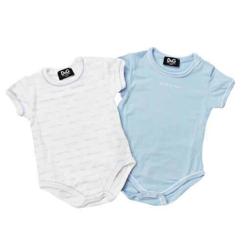 D&G ジュニア ベビー服 出産祝いギフト 半袖ロンパース 2枚セット DGL1D626BLU