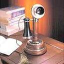 高級感あふれるアンティーク電話機 Wood Desk Telephone【HT-05C】インテリアにも最適!