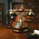 高級感あふれるアンティーク電話機 RoundWood Telephone【HT-9105B】インテリアにも最適!