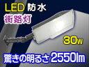 省エネ&低コスト!LED街路灯 30W/2550LMタイプ【22008-L30】
