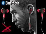 Bluetooth対応カナル型ステレオイヤホン/マイク付【X-WAVEレッド】ブルートゥース