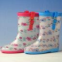 スケルトンタイプのキッズ用長靴(女の子)パピーノ084