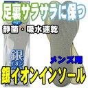 鞋子 - 【インソール 中敷き】制菌・通気性・吸水速乾《モリト》銀イオンインソール男性用(24〜27cm)