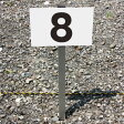 ◎駐車場アルミ角柱付番号プレート  ■プレートサイズ:H165×W250ミリ ■SCN-101