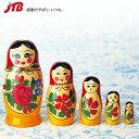 マトリョーシカ人形(5点セット)|ぬいぐるみ・人形 ヨーロッパ 雑貨 ロシア土産 おみやげ