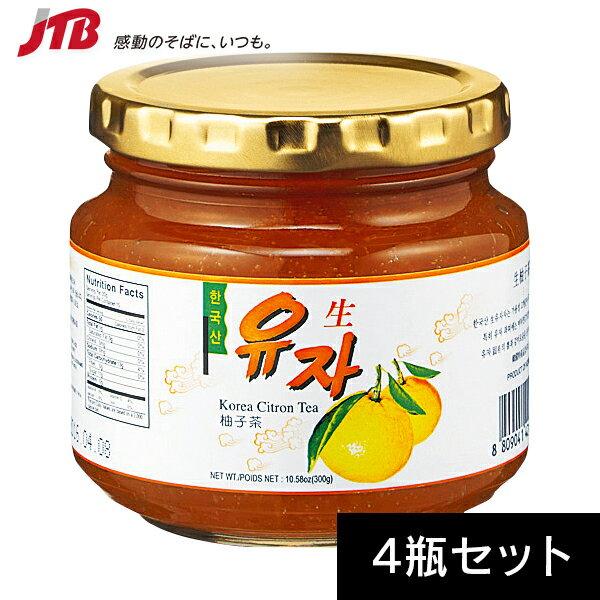 【韓国 お土産】韓国 ゆず茶4瓶セット 柚子茶【...の商品画像