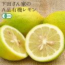 【送料無料(クール代別)】 下田さん家のA品有機レモン 3kg 【無農薬・無化学肥料】【国産レモン】
