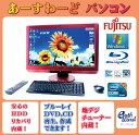 富士通 デスクトップパソコン Windows7 中古パソコン デスクトップ 一体型 本体 Kingsoft Office付き Core i7 ブルーレイ 地デジ/BS/CS 8GB/1TB FH90/DN レッド 送料無料 【中古】