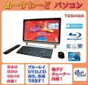 東芝 デスクトップパソコン Windows8 中古パソコン デスクトップ 一体型 本体 Kingsoft Office付き Core i7 ブルーレイ 地デジ/BS/CS 8GB/2TB D713/T7JB ブラック 送料無料 【中古】