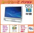中古パソコン Windows7 デスクトップ 一体型 Kingsoft Office付き SONY VGC-JS50B シルバー Pentium HDD/500GB メモリ/2GB DVD 送料無料 【中古】
