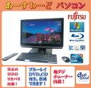 富士通 デスクトップパソコン Windows7 中古パソコン デスクトップ 一体型 本体 Kingsoft Office付き Core i7 ブルーレイ 地デジ/BS/CS 8GB/2TB FH77/ED ブラック 送料無料 【中古】
