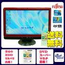 富士通 デスクトップパソコン Windows7 中古パソコン デスクトップ 一体型 本体 Kingsoft Office付き Core i3 DVD 4GB/500GB F/G60 レッド 送料無料 【中古】