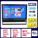 NEC デスクトップパソコン 中古パソコン VN370/J ブラック デスクトップ 一体型 本体 Windows8 WPS Office付き Celeron DVD 地デジ/BS/CS 4GB/1TB 送料無料 【中古】