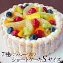 御歳暮20197種のフルーツのショートケーキSサイズ(約13cm)誕生日ケーキ バースデーケーキ サプライズ※他商品と同梱不可