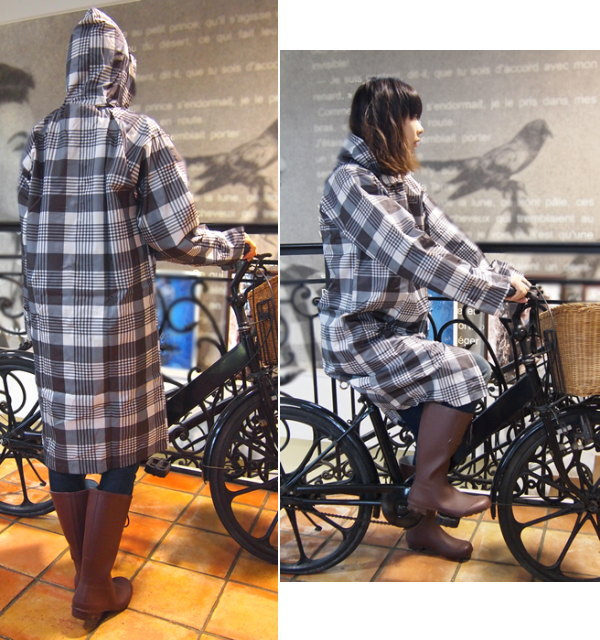 自転車の 自転車 雨具 通学 : レインコート自転車レディース ...