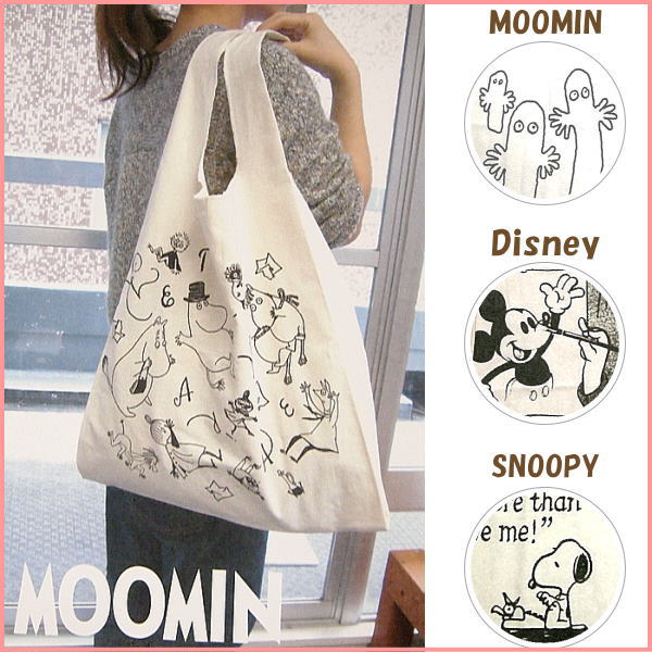 ディズニー ミッキー バッグ エコバッグ トートバッグ 鞄 サブバッグ コットン コットン…...:e-piglet:10003535