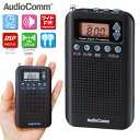 ポケットラジオ ワイドFM DSP ブラック 黒 RAD-P350N-K 07-8185 Audio...