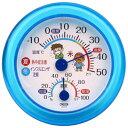 室内用 温・湿時計 TR-103 ブルー 温度計 湿度計 熱中症 インフルエンザ 17-8902