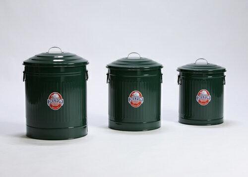 DULTON ダルトン ガベージカン 3個セット 12L 18L 24L ゴミ箱 ごみ箱 トラッシュカン ダストボックス ゴミ入れ ごみ入れ 小物入れ 小物収納 おしゃれ かわいい レトロ アンティーク調 庭 ガーデニング ふた付き 蓋付き コンパクト スチール 完成品 キッチン カラフル