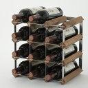 『イングランド製ワインラック12本用』ワインボトルラックワインボトル収納ワイン収納ウッドラックワインボックス木木製天然木ディスプレイ4段オーク材イギリス製おしゃれ保存保管クリ