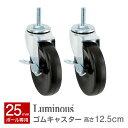 【メタルラック ランキング入賞】ルミナス25mm スチールラックパーツ ルミナス正規品 キャスター