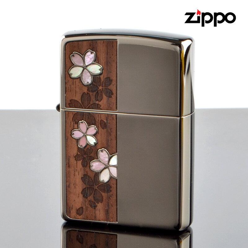 【m送料無料・新品・正規品】Zippo ジッポライター 2csw-bn シェルウッド 桜 BNミラー エッチング 【】