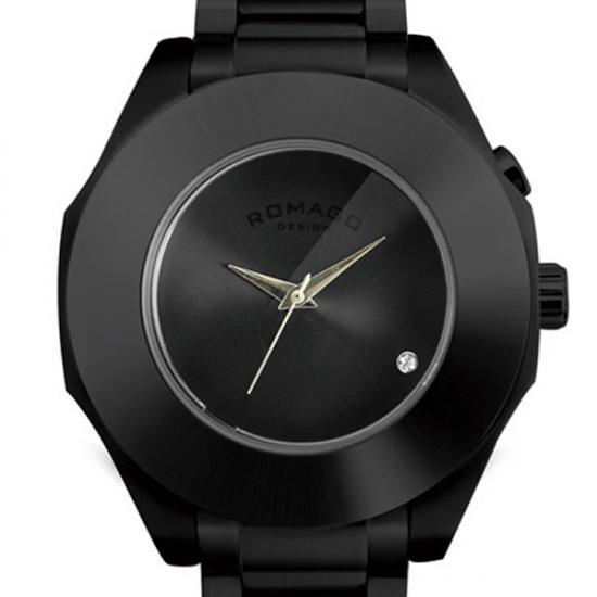 【送料無料・新品・正規品】ROMAGO DESIGN[ロマゴデザイン] RM003-1513SS-BK Harmony series ミラー文字盤 クォーツ 腕時計 ブランド ファッション 腕時計 【】 ロマゴデザイン[ROMAGO DESIGN] ( Romago design ロマゴデザイン 腕時計 ) romago ブランド 腕時計