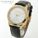 【a送料無料・新品・正規品】TOMORA TOKYO t-1602-gdwh 日本製クォーツ スモールセコンド腕時計 T-1602 GDWH