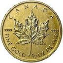【新品未使用】【金貨】カナダ メイプルリーフ金貨 1/2オンス硬貨 1/2oz(1979年〜)「コイン」