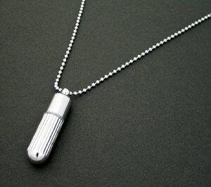 ギザギザ ダイヤカットデザイン ロケット ペンダント ネックレス チェーン アクセサリー