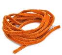 【日本製】両面スエードの牛革紐(ウシ/平紐/3mm/100cm/オレンジ/橙色)「レザーコード・革紐・皮紐・皮ひも・革ひも・革ヒモ・皮ヒモ・ネックレス・パーツ・アクセサリー用品」