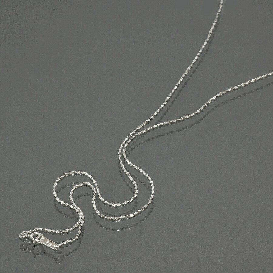 【各種メッキもOK!】S字ツイストチェーン・ネックレス(1.0mm/40cm)「シルバーチ…...:e-rubby:10040876